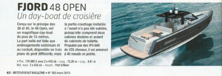 neptune yachting moteur et moteur boat magazine salon de dusseldorf le fjord 48 open 5 48 235